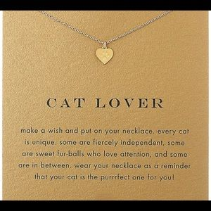 Jewelry - TWO CAT LOVER PAW GOLD DIPPED NECKLACES w/ CARD
